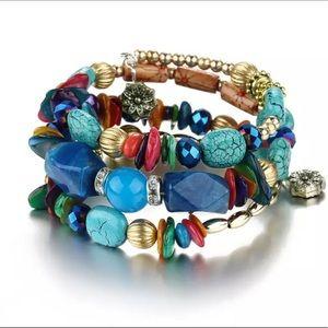 Jewelry - Multi-Layer Bohemian Beads Crystal Charms Bracelet